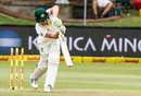 Cameron Bancroft drives down the ground, South Africa v Australia, 2nd Test, 1st day, Port Elizabeth, March 9, 2018