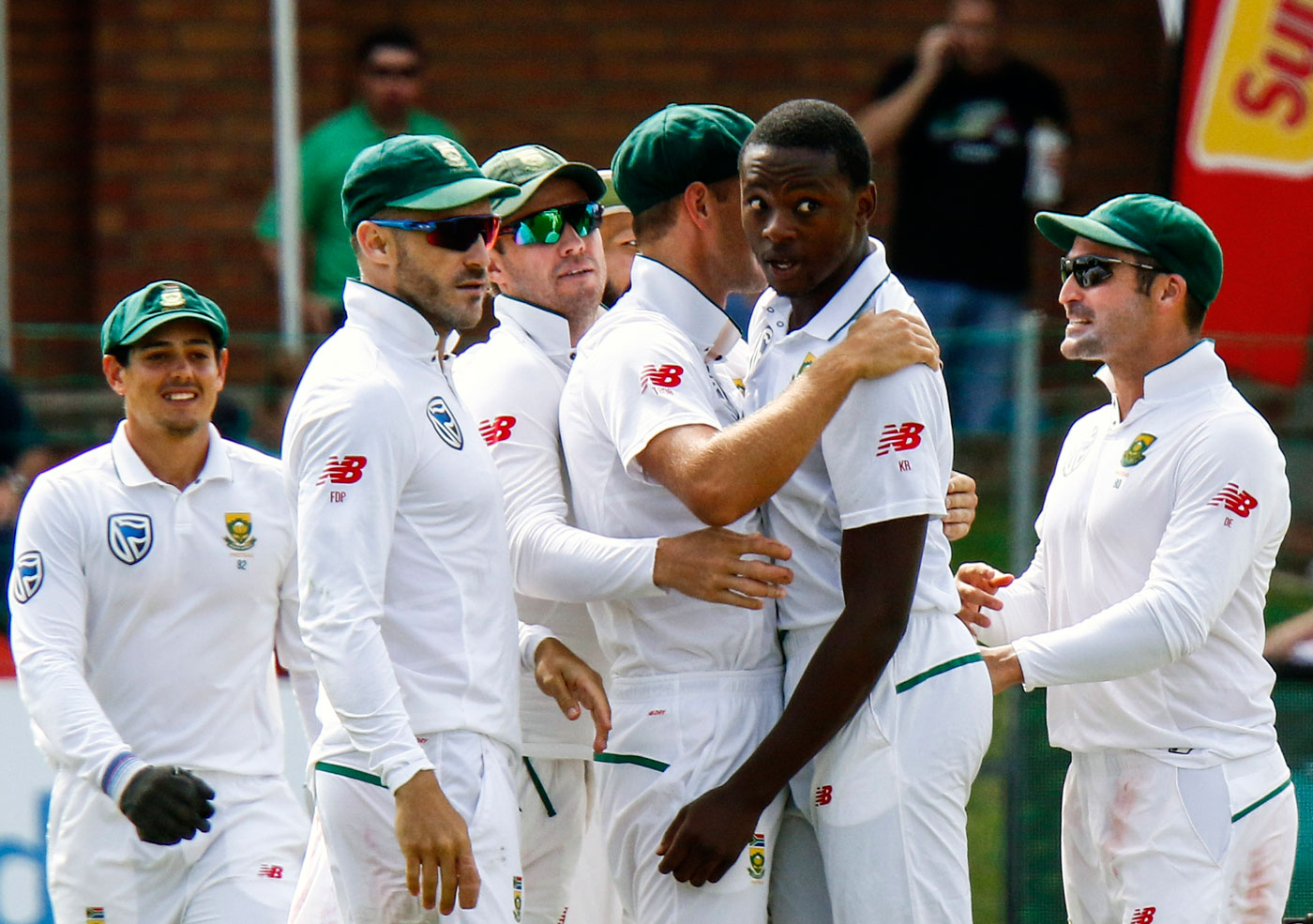 South Africa's Rabada charged over Smith shoulder bump