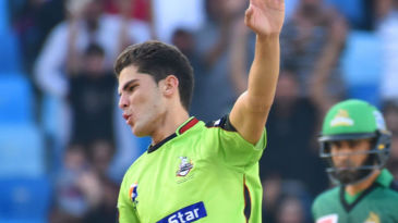 Shaheen Afridi was in rip-roaring form against Multan Sultans