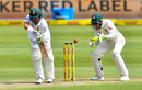 Dean Elgar is beaten on the outside edge, South Africa v Australia, 2nd Test, 2nd day, Port Elizabeth, March 10, 2018