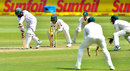Hashim Amla dead-bats into the leg side, South Africa v Australia, 2nd Test, 2nd day, Port Elizabeth, March 10, 2018