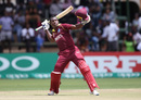 Rovman Powell celebrates his first ODI hundred, West Indies v Ireland, Group A, World Cup Qualifiers, Harare, March 10, 2018