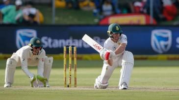 AB de Villiers prepares to sweep