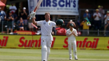 AB de Villiers scored his 22nd Test century