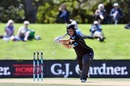 Sophie Devine makes room to slap one away, New Zealand v West Indies, 3rd ODI, Christchurch, March 11, 2018