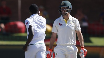 Mitchell Marsh had a few words for Kagiso Rabada