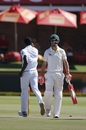Mitchell Marsh had a few words for Kagiso Rabada, South Africa v Australia, 2nd Test, Port Elizabeth, 4th day, March 12, 2018