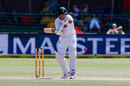 Aiden Markram looks to get behind the line, South Africa v Australia, 2nd Test, 4th day, Port Elizabeth, March 12, 2018