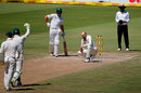Nathan Lyon stares down the pitch after a close lbw shout, South Africa v Australia, 2nd Test, 4th day, Port Elizabeth, March 12, 2018