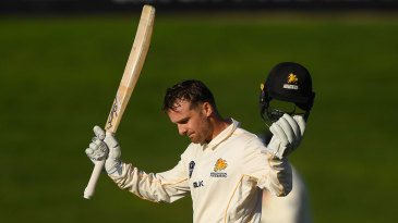 Tom Blundell reaches his century