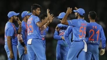 Washington Sundar took three wickets in his first spell