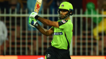 Fakhar Zaman plays a pull shot