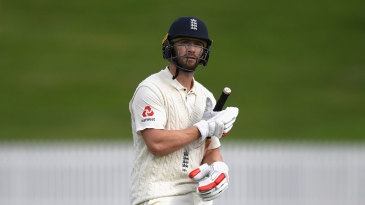 Mark Stoneman was the first of the England batsmen to be dismissed twice in the day