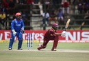 Shai Hope crunches a sweep, West Indies v Afghanistan, World Cup Qualifiers, Super Six stage, March 15, 2018