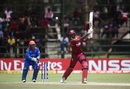 Jason Holder flays one through the off side, West Indies v Afghanistan, World Cup Qualifiers, Super Six stage, March 15, 2018