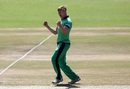 Barry McCarthy roars after taking a wicket, Zimbabwe v Ireland, World Cup qualifier, Super Sixes, Harare, March 16, 2018