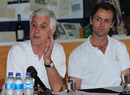 Chairman Mike Brearley and MCC head of cricket John Stephenson at a MCC World Cricket Committee media conference, Cape Town, January 10, 2012