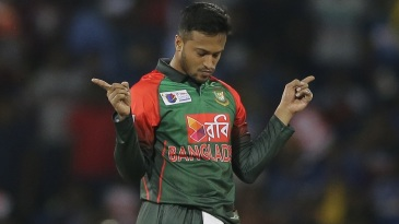 Shakib Al Hasan marked his return with the wicket of Danushka Gunathilaka