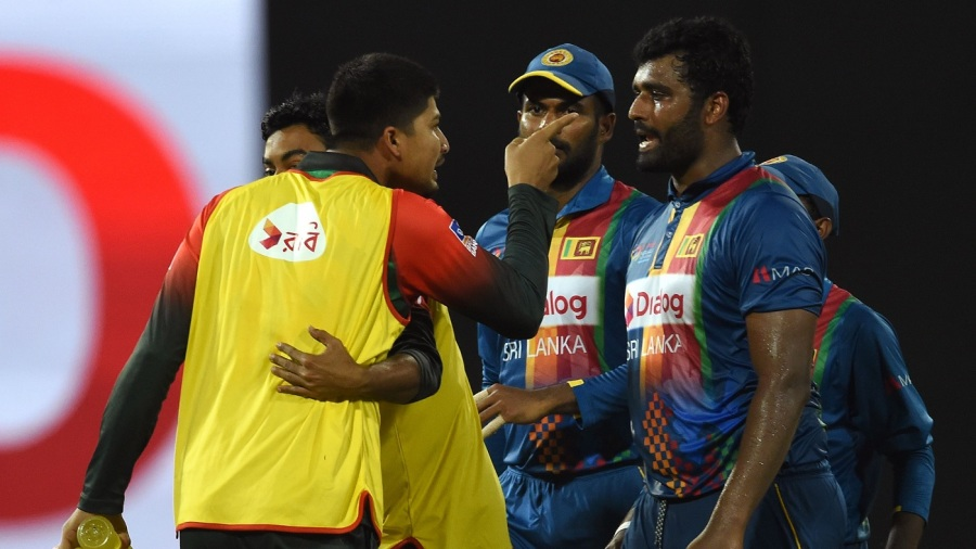Nurul Hasan and Thisara Perera were involved in a heated exchange