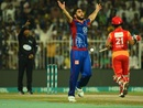 Usman Khan took four Islamabad wickets, Karachi Kings v Islamabad United, PSL, March 16, 2018