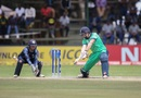 Kevin O'Brien slashes through the off side, Ireland v Scotland, World Cup Qualifier, Super Sixes, Harare, March 18, 2018