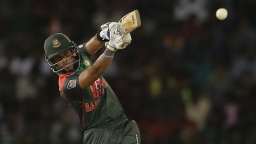 Sabbir Rahman plays down the ground