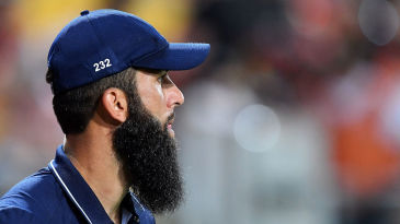 Moeen Ali in the field during England's one-day series in New Zealand