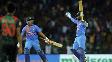 Dinesh Karthik's last-ball six clinched India the title