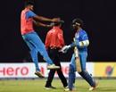 India's celebrations with Dinesh Karthik begin, India v Bangladesh, Nidahas Trophy final, Colombo, March 18, 2018