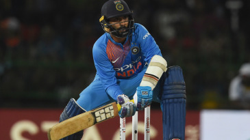 Dinesh Karthik lines up to play a shot