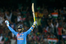 Dinesh Karthik savours the winning moment, India v Bangladesh, Nidahas Trophy final, Colombo, March 18, 2018