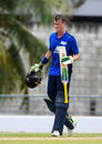 Nick Gubbins heaped on more agony for North - and for himself - as his century was completed with cramp, North v South, Kensington Oval, Barbados, March 18, 2018