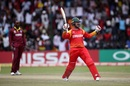 Brendan Taylor celebrates his century, Zimbabwe v West Indies, World Cup Qualifiers, Harare, March 19, 2018