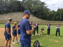 Jacob Oram trains with the New Zealand women's team at Pukekura Park, New Plymouth, March 19, 2018