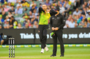 Ashton Agar in action for Australia, Australia v England, MCG, T20I, February 10, 2018
