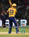 Kamran Akmal chopped on for a duck, Peshawar Zalmi v Quetta Gladiators, eliminator 1, PSL 2018, Lahore, March 20, 2018