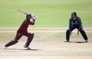 Marlon Samuels brings out the drive, West Indies v Scotland, World Cup Qualifiers, Harare, March 21, 2018