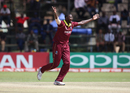 Jason Holder exults after picking up a wicket, West Indies v Scotland, ICC Cricket World Cup Qualifier, Harare, March 22, 2018