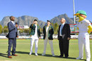 Steven Smith calls as Faf du Plessis flips the coin, South Africa v Australia, 3rd Test, Cape Town, 1st day, March 22, 2018