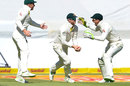 Steven Smith grabbed an early catch off Aidan Markram, South Africa v Australia, 3rd Test, Cape Town, 1st day, March 22, 2018
