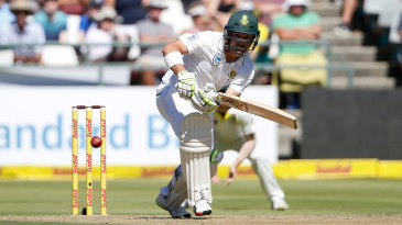Dean Elgar dug in for South Africa on the first morning