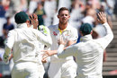 Josh Hazlewood broke the second-wicket stand, South Africa v Australia, 3rd Test, Cape Town, 1st day, March 22, 2018