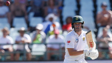 AB de Villiers passed 50 for the third time in the series