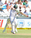 Dean Elgar pulls through the leg side, South Africa v Australia, 3rd Test, Cape Town, 1st day, March 22, 2018