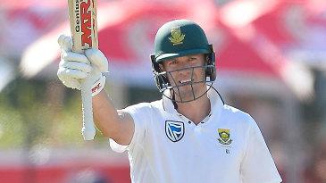 AB de Villiers celebrates a flowing fifty