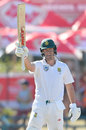 AB de Villiers celebrates a flowing fifty, South Africa v Australia, 3rd Test, Cape Town, 1st day, March 22, 2018