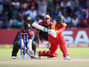 Sean Williams shapes to reverse-sweep, Zimbabwe v UAE, World Cup qualifier, Super Sixes, Harare, March 22, 2018