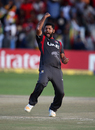 Mohammad Naveed exults after picking up a wicket, Zimbabwe v UAE, World Cup qualifier, Super Sixes, Harare, March 22, 2018