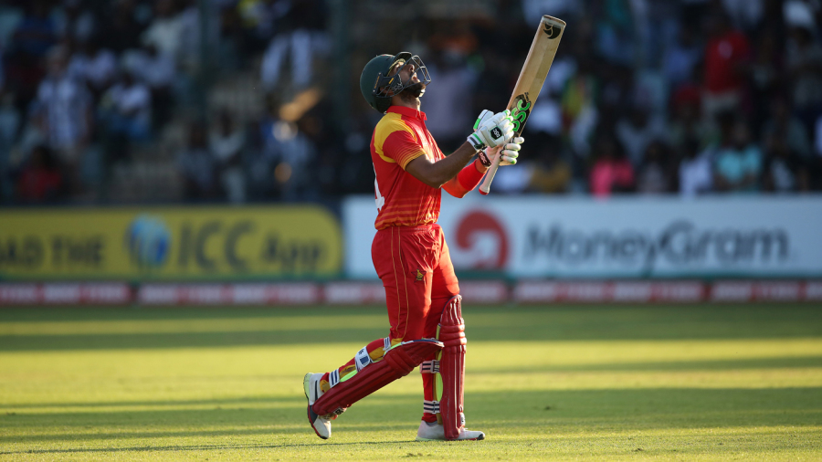 A dejected Sikandar Raza walks back after holing out