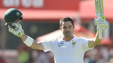 Dean Elgar brought up his 11th Test century